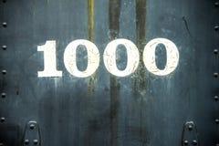 Número de identificación de la locomotora de vapor Foto de archivo libre de regalías