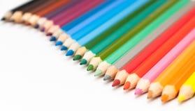 Número de lápis coloridos Imagens de Stock