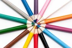 Número de lápis coloridos Imagens de Stock Royalty Free