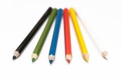 Número de lápis coloridos Imagem de Stock Royalty Free