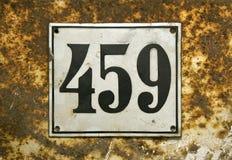 Número de la calle Foto de archivo libre de regalías