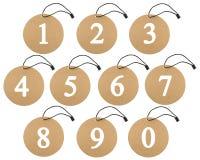 Número de la cartelera Fotografía de archivo libre de regalías