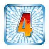 Número de la celebración del alfabeto - 4 cuatro Imagen de archivo libre de regalías