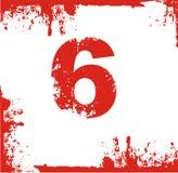 Número de la cuenta con el grung Imágenes de archivo libres de regalías