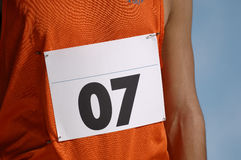 Número de la entrada de los corredores Imágenes de archivo libres de regalías