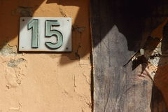 15, número de la puerta Imagen de archivo