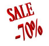 Número de la venta y del 70 por ciento Imágenes de archivo libres de regalías