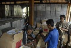 NÚMERO DE LAS ELECCIONES LOCALES 2015 DE INDONESIA DE VOTANTES Foto de archivo libre de regalías
