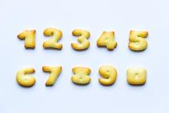 Número de las galletas Fotos de archivo