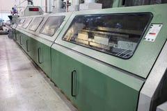 Número de las máquinas en la fábrica Imagen de archivo libre de regalías