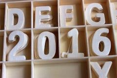 Número de madeira 2016 Fotos de Stock Royalty Free