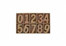 Número de madera Imagen de archivo libre de regalías