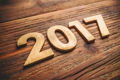 Número de madera 2017 Foto de archivo libre de regalías