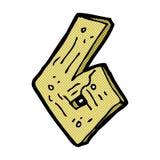 número de madera de la historieta cómica Imágenes de archivo libres de regalías