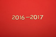 Número de madera en 2016-2017 Año Nuevo Foto de archivo libre de regalías