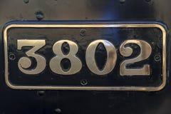Número de matrícula de la locomotora de vapor Fotografía de archivo libre de regalías
