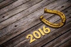 número de oro de 2016 años Imagen de archivo libre de regalías