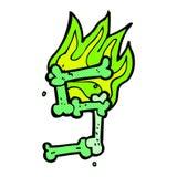 número de osso cômico do Dia das Bruxas dos desenhos animados Imagem de Stock
