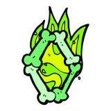 número de osso cômico do Dia das Bruxas dos desenhos animados Fotografia de Stock Royalty Free