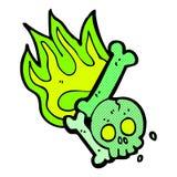 número de osso cômico do Dia das Bruxas dos desenhos animados Foto de Stock Royalty Free