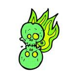 número de osso cômico do Dia das Bruxas dos desenhos animados Imagens de Stock
