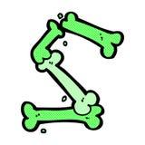 número de osso cômico do Dia das Bruxas dos desenhos animados Fotos de Stock Royalty Free