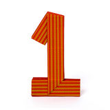 Número de papel um do origâmi Foto de Stock