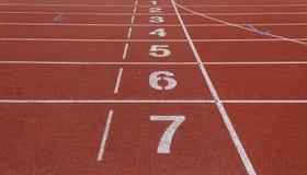 Número de pista de atletismo Fotos de Stock