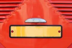 Número de placa del coche de la licencia del vintage, estilo retro Imagen de archivo libre de regalías