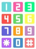 Número de teléfono colorido Imagen de archivo libre de regalías