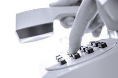 Número de teléfono de marca con cogido el receptor imagen de archivo