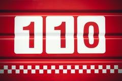 Número de telefone da emergência Imagens de Stock Royalty Free