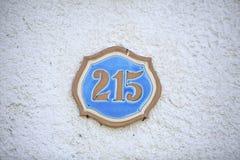 Número de una casa de la calle Imagen de archivo