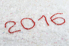 Número del Año Nuevo en gotas Imagen de archivo
