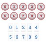 Número del contador de Flipboard Fotos de archivo