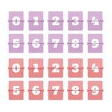 Número del contador de Flipboard Imágenes de archivo libres de regalías