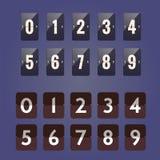 Número del contador de Flipboard Fotografía de archivo libre de regalías