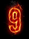Número del fuego Foto de archivo