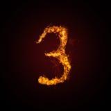 Número del fuego Imagen de archivo
