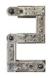 Número del metal Imagenes de archivo