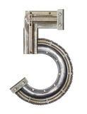 Número del metal Imagen de archivo libre de regalías