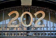 Número del metal de la calle imagenes de archivo
