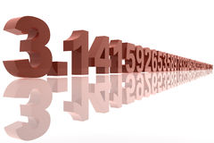 Número del pi Fotos de archivo
