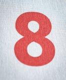 Número del rojo de la fecha civil ocho Imagen de archivo