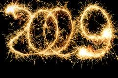 Número del Sparkler 2009 Imágenes de archivo libres de regalías