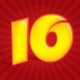 Número dez Fotografia de Stock