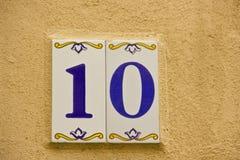 Número dez Imagens de Stock Royalty Free