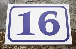 Número dieciséis Fotos de archivo