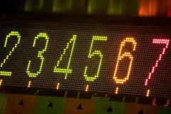 Número digital conduzido imagens de stock