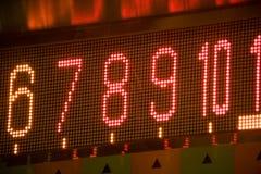 Número digital conduzido Fotografia de Stock